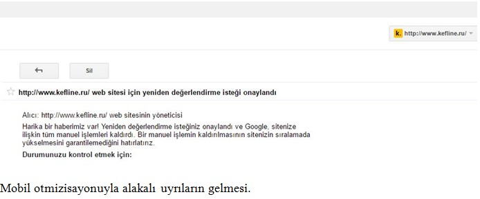 Google Manual İşlem